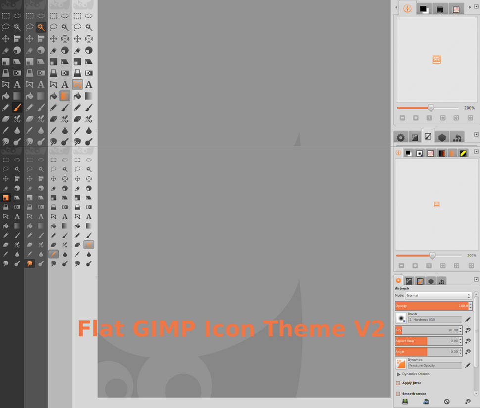 2 Gimp The Flat Gimp Icon Theme V 2 1 By Android272 On Deviantart