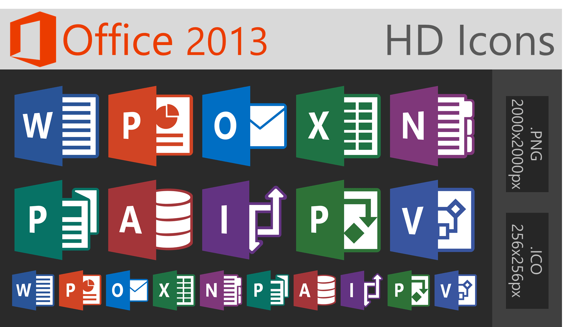 Pack Office Microsoft 2013 Office 2013 Hd Icons Large By Dakirby309 On Deviantart