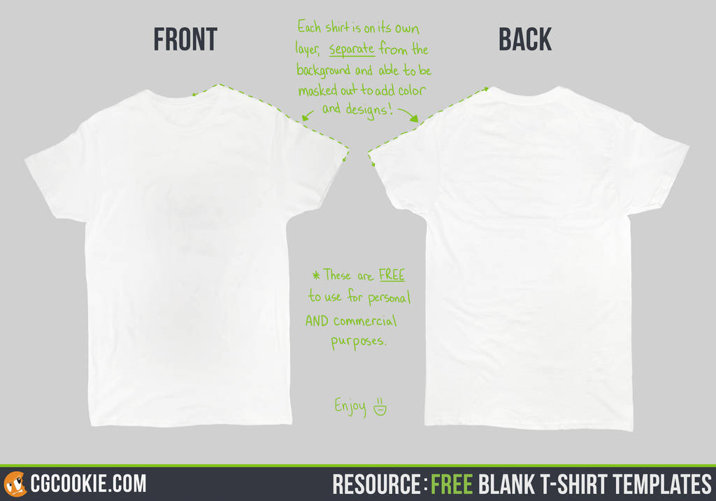 Resource Blank T-Shirt Templates by CGCookie on DeviantArt