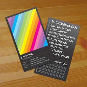 Rainbow Business Card v2 by Lemongraphic on DeviantArt