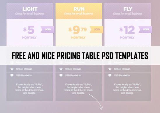 46 Best Free PSD Pricing Table Templates by webhub on DeviantArt