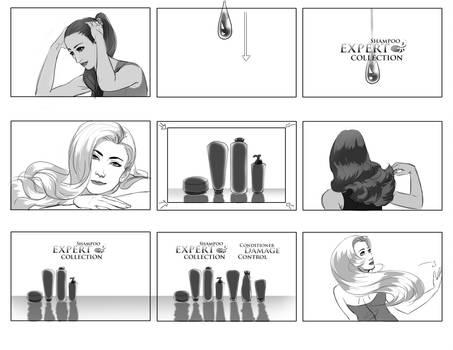 Shampoo commercial storyboard by CheshFire on DeviantArt