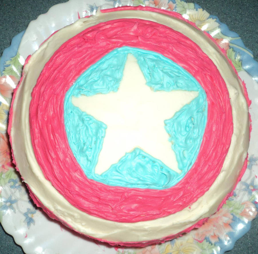 Captain America Kuchen Captain America S Shield By Mhm616 On Deviantart