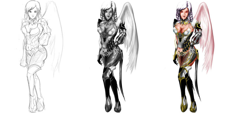 grayscale to color process by Guinzoo on DeviantArt