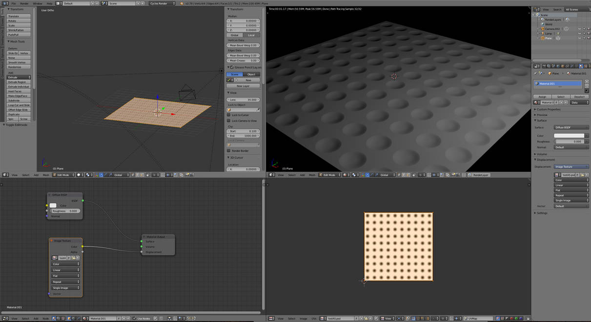Blender Basic Blender 3d Basic Displacement Node By Anul147 On Deviantart