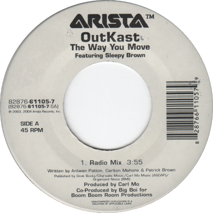 45cat Outkast Featuring Sleepy Brown The Way You Move