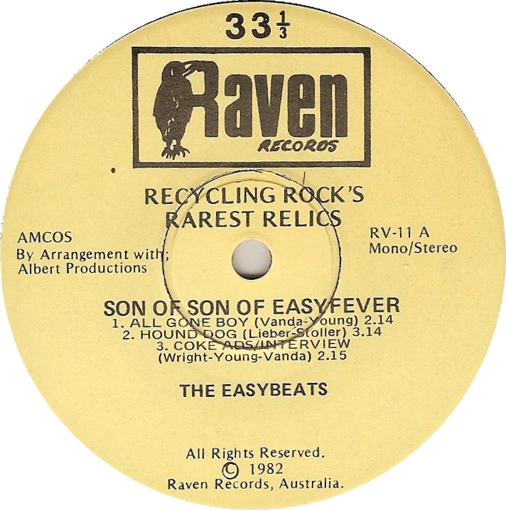 Red Raven New Zealand 45cat The Easybeats Son Of Son Of Easyfever Raven