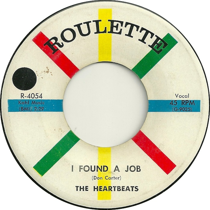 45cat - The Heartbeats Doo Wop - I Found A Job / Down On My Knees - found a job