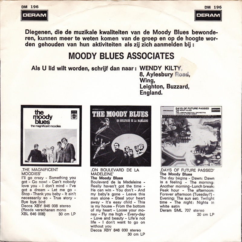 45cat - The Moody Blues - Voices In The Sky / Dr Livingstone, I