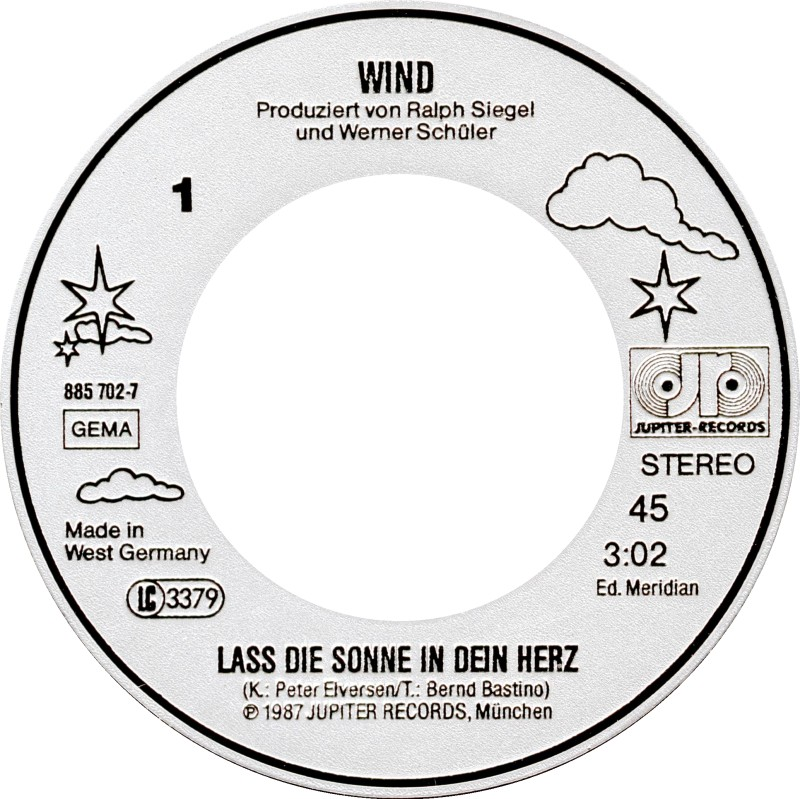 Lass Die Sonne Rein 45cat - Wind [germany] - Lass Die Sonne In Dein Herz