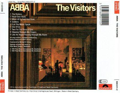 CD Album - ABBA - The Visitors - Polydor - Europe