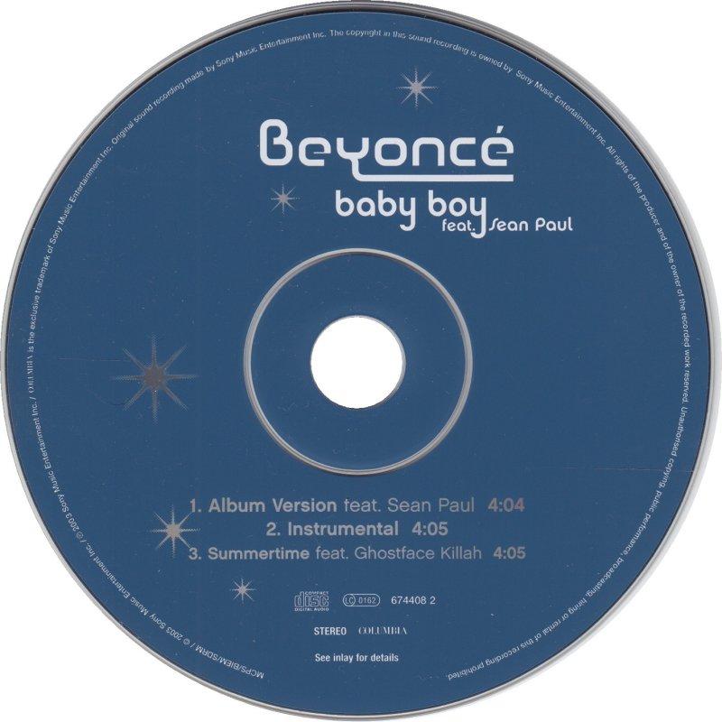 CD Singles - Beyonce Feat Sean Paul - Baby Boy - Columbia - UK