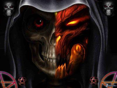 Tête de mort sombre