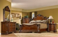 Old World 6 Piece King Traditional European Style Bedroom
