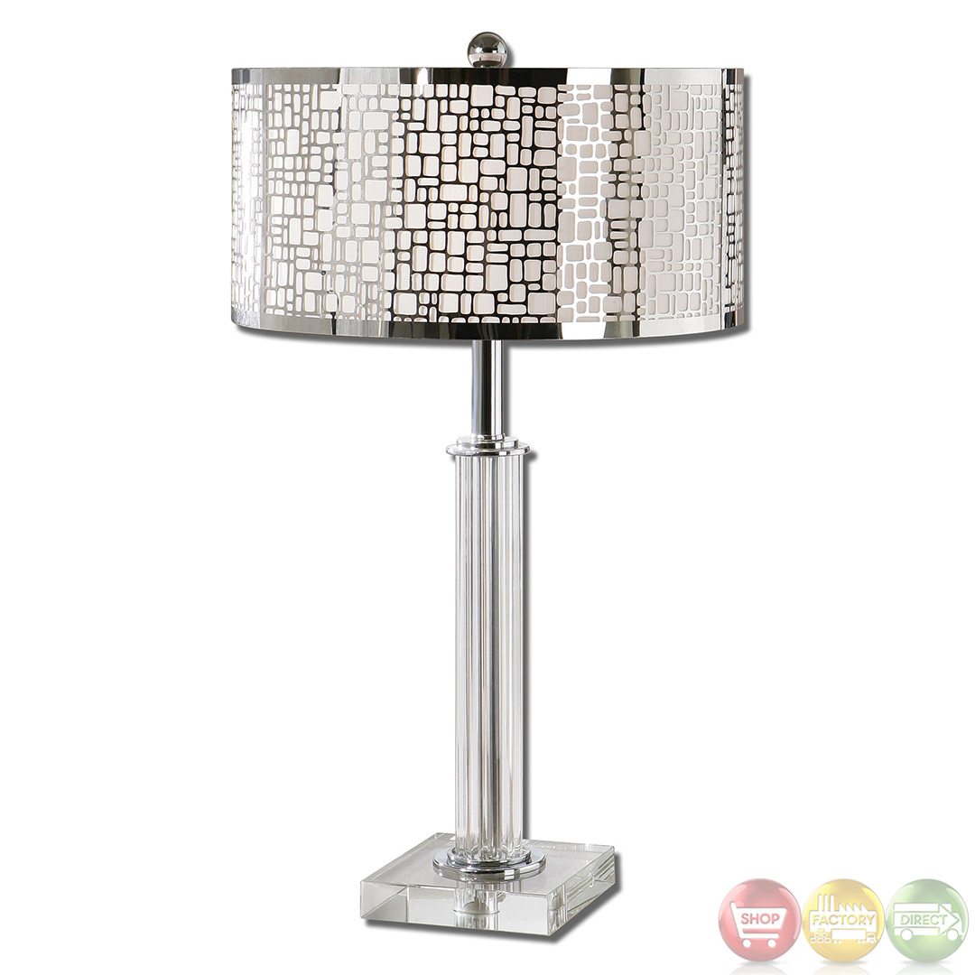 Contemporary Lamp Tables Lucius Polished Chrome Contemporary Table Lamp 26578 1 Ebay
