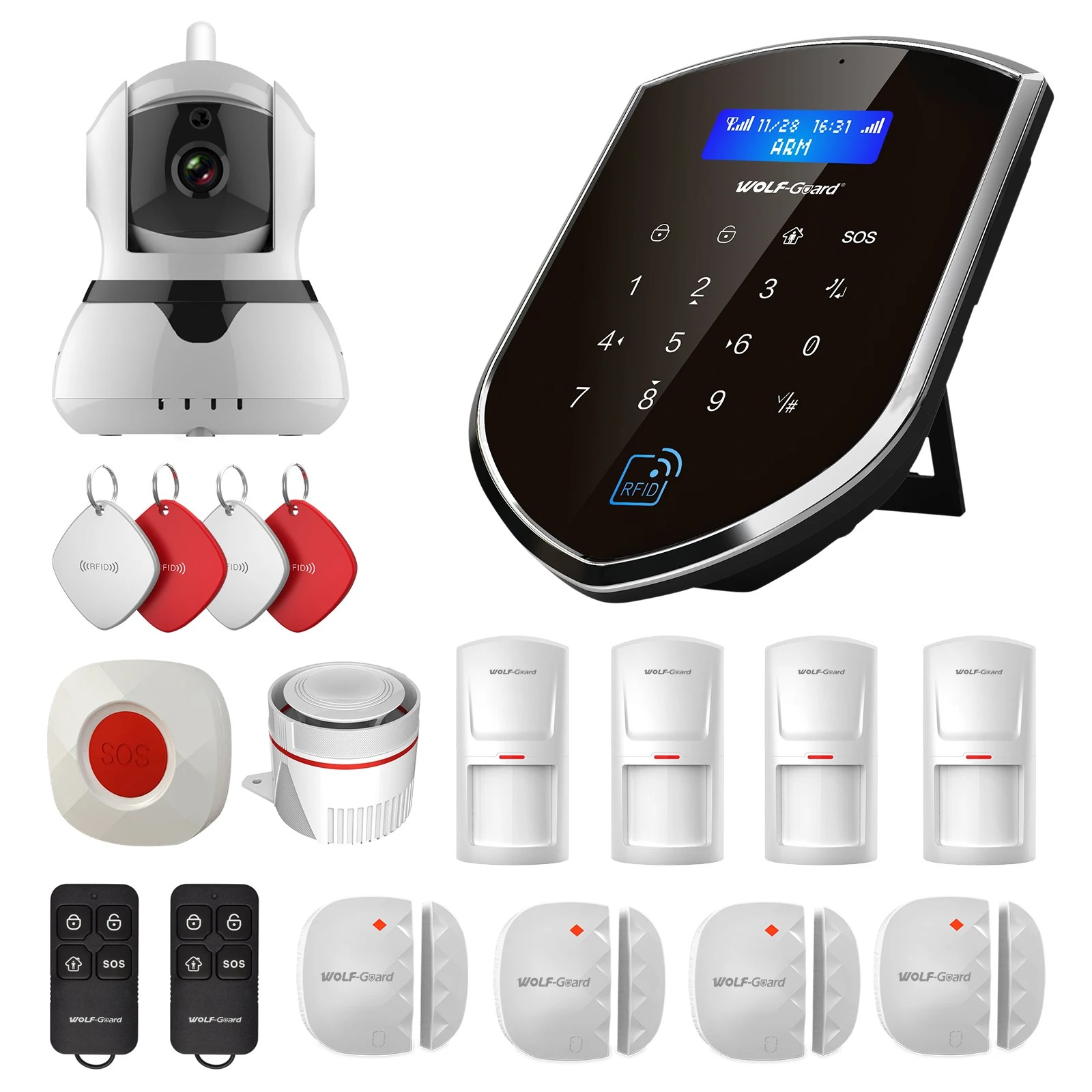 Diy Home Security Camera System Reviews 3g Wifi Wireless Sheild Home Alarm Security System Door