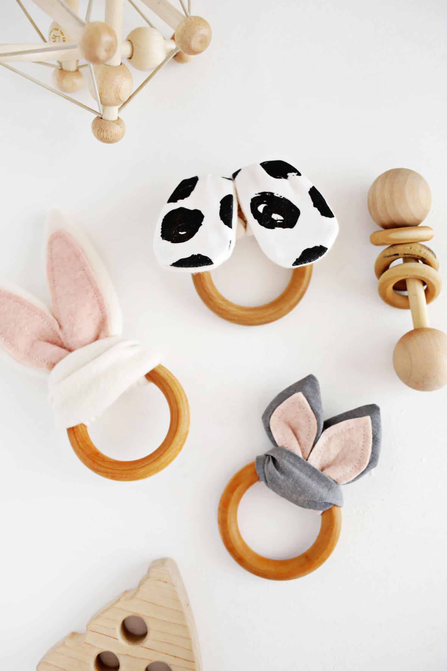 Wooden Baby Mobile Wooden Ring Crinkle Teether Diy A Beautiful Mess