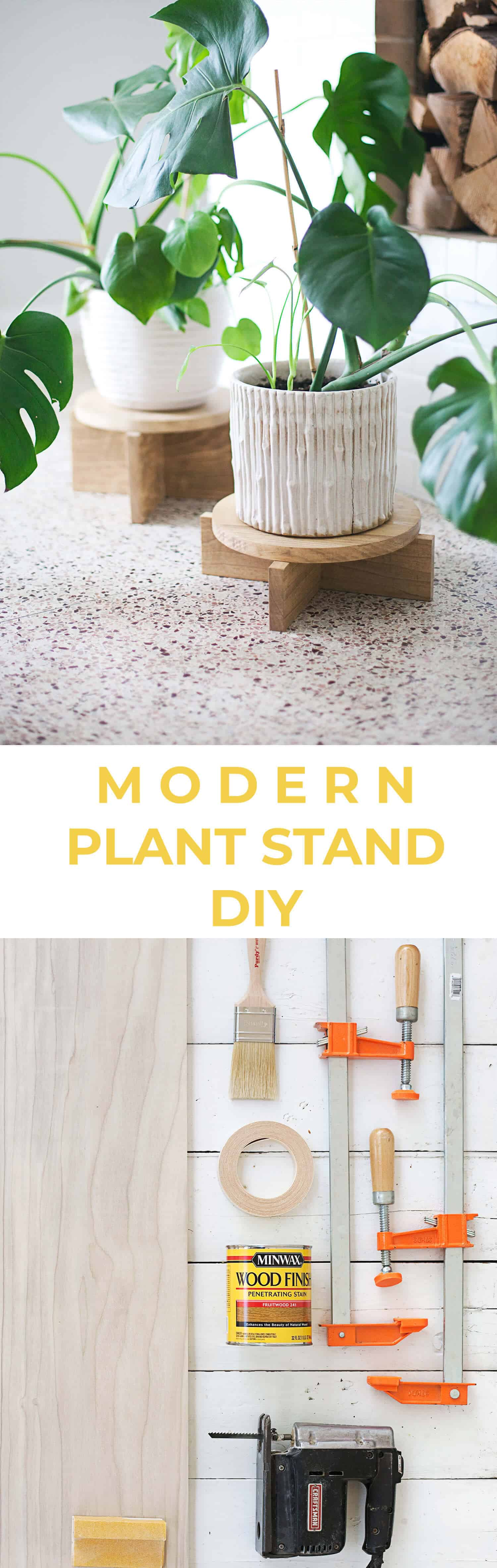 How To Make Your Own Tree Stand Diy Modern Wood Plant Stands A Beautiful Mess