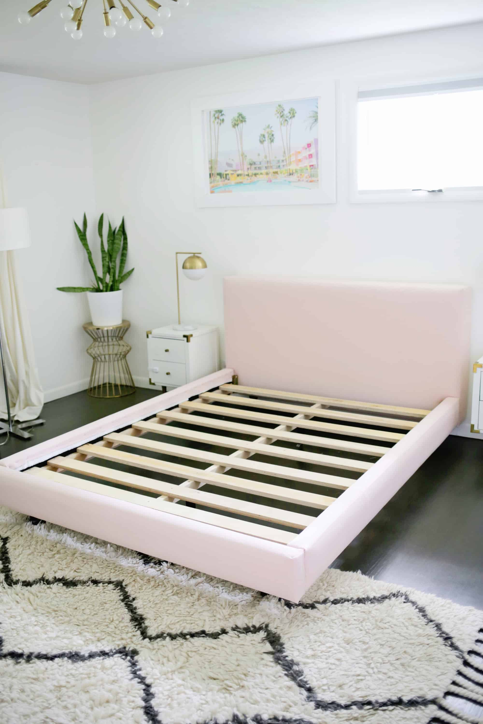 Fabric Bed Frames Reupholster Your Bed Frame In One Afternoon With A No Sew Option