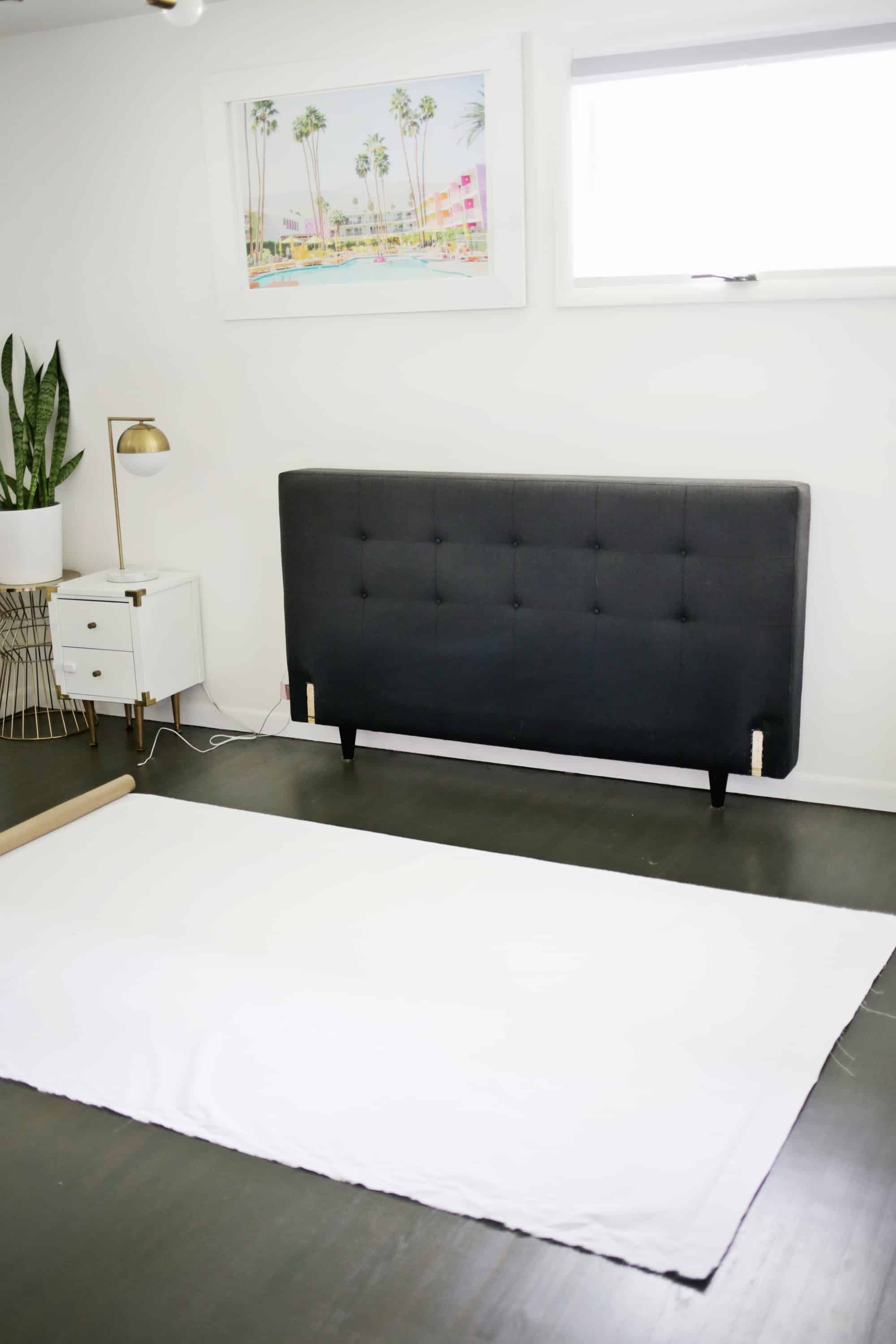 Cheap Wooden Bed Frames Reupholster Your Bed Frame In One Afternoon With A No Sew Option