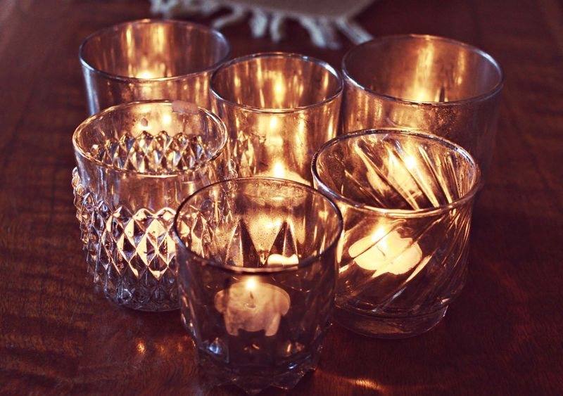 Aged Mercury Glass Candle Holders A Beautiful Mess