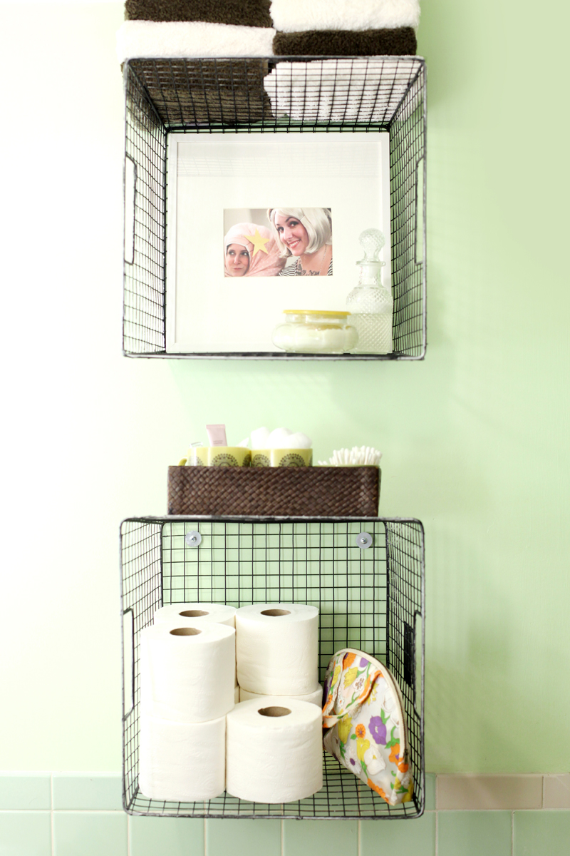 Bathroom Basket Try This Hanging Baskets For Bathroom Storage A Beautiful Mess