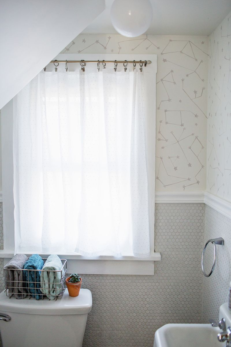 Bathroom Window Covering Easy No Sew Curtains A Beautiful Mess
