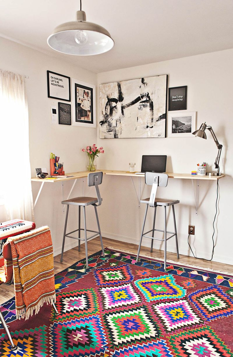 Wall Mounted Desks For Small Spaces Building A Standing Desk A Beautiful Mess