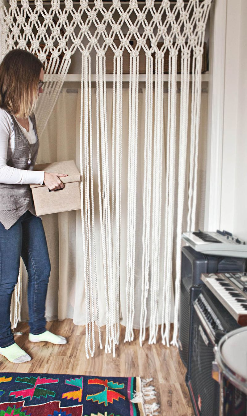 Rope Curtain Make Your Own Macrame Curtain A Beautiful Mess