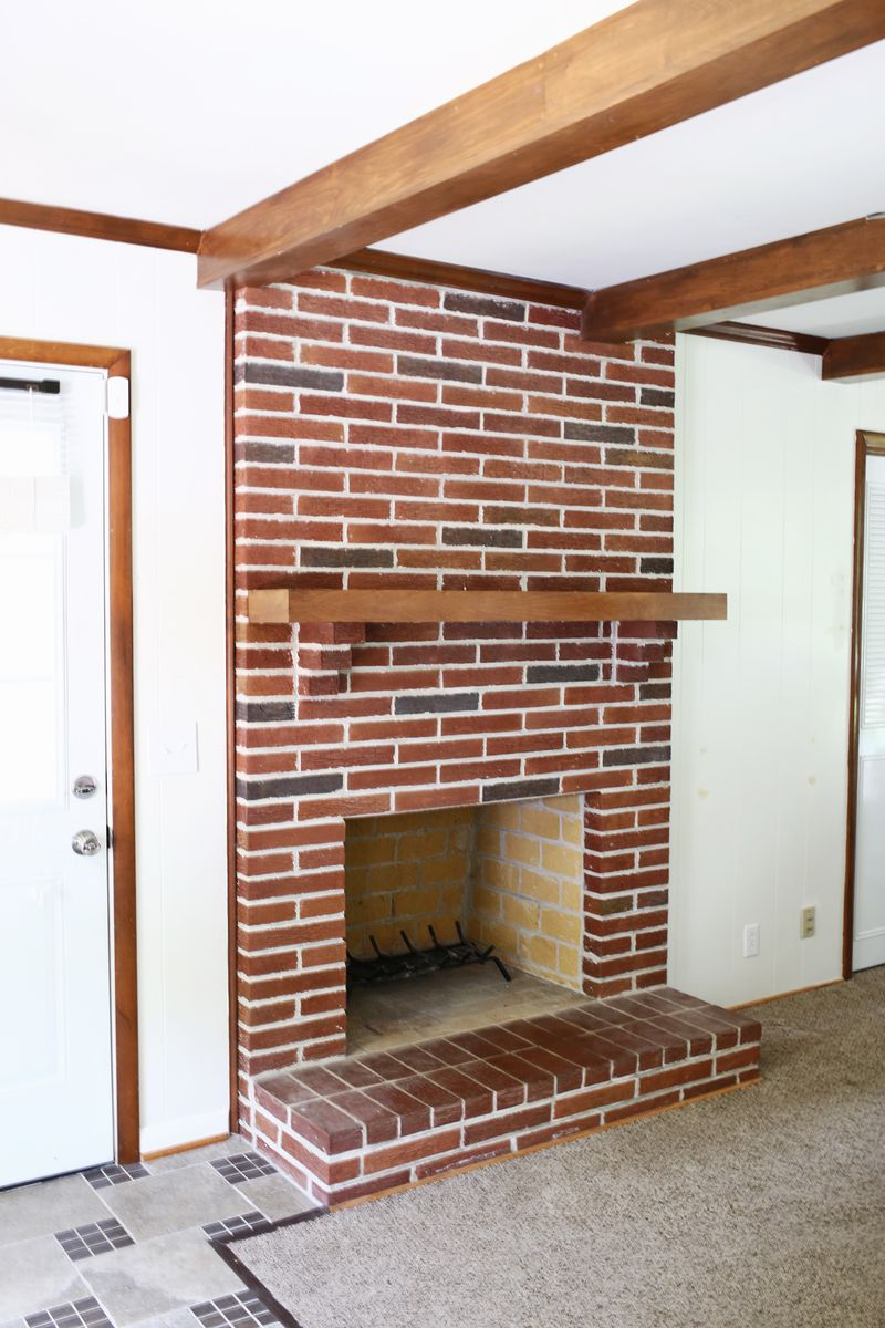 Painting An Old Fireplace How To Paint Brick And Stone A Beautiful Mess