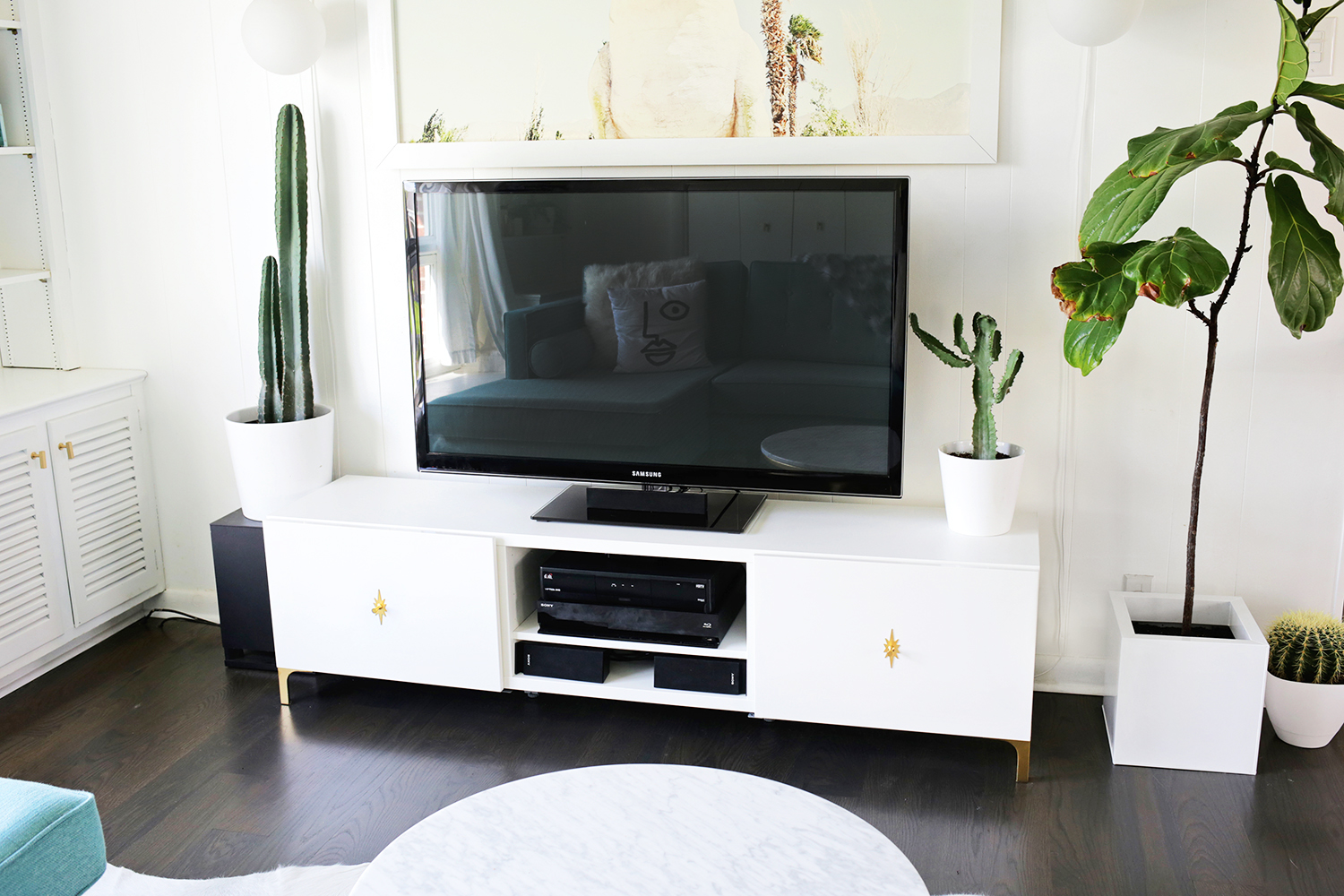 Ikea Tv Unit Ikea Restyle Mid Century Tv Stand A Beautiful Mess
