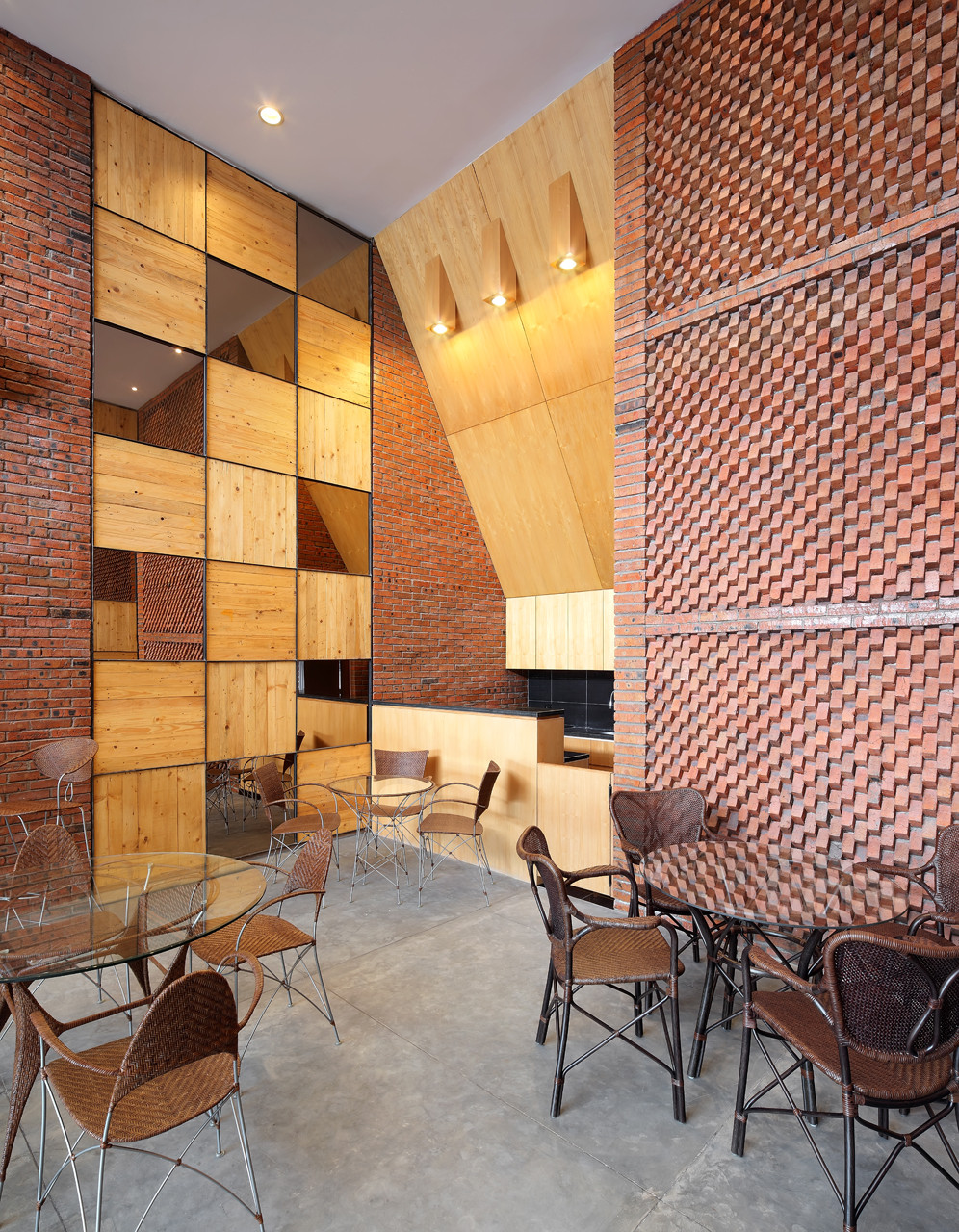 3d Brick Effect Home Depot Brick Wallpaper Gallery Of Yamakawa Rattan Showroom Sidharta Architect 4