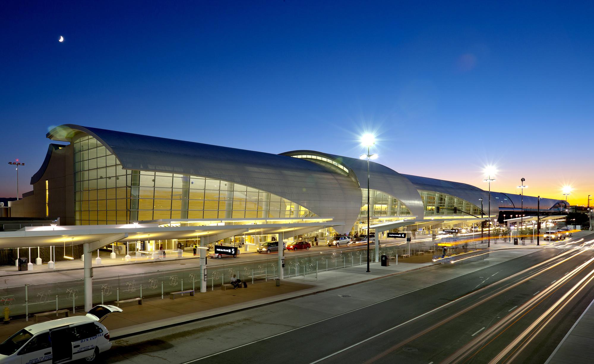 Niagara Falls At Night Wallpaper Gallery Of Norman Y Mineta San Jose International Airport