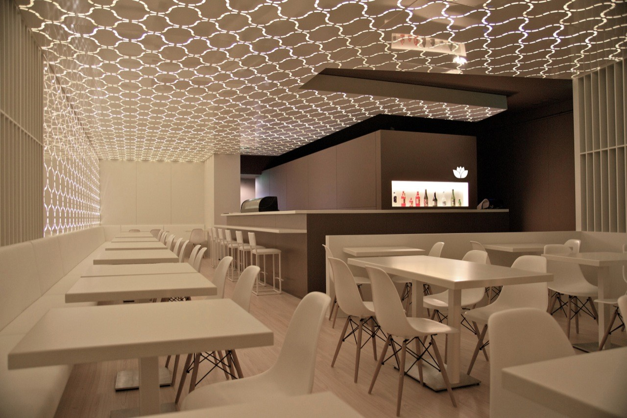 3d Wallpaper For Master Bedroom Sushihana Restaurant A2g Arquitectura Archdaily