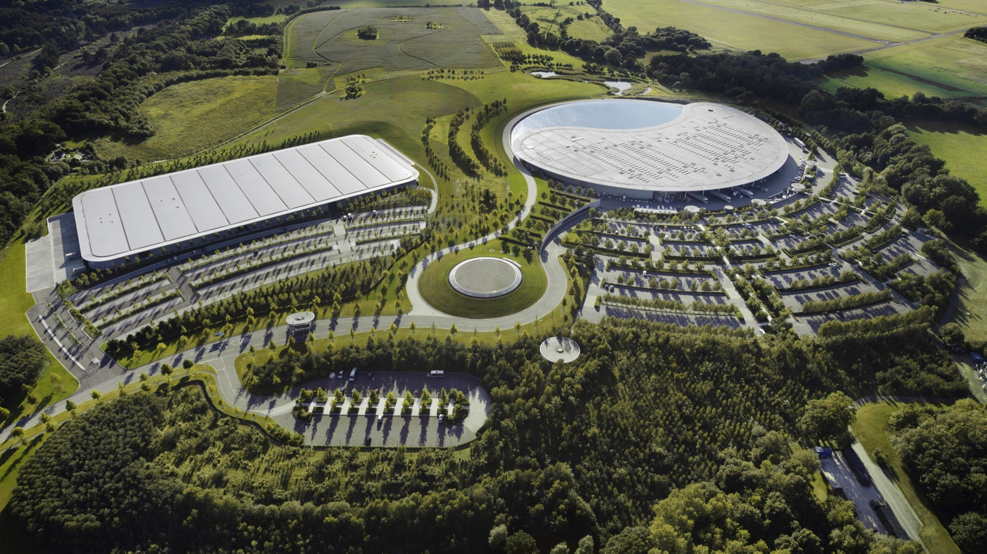 Bio House Group Mclaren Production Centre Foster 43 Partners Archdaily