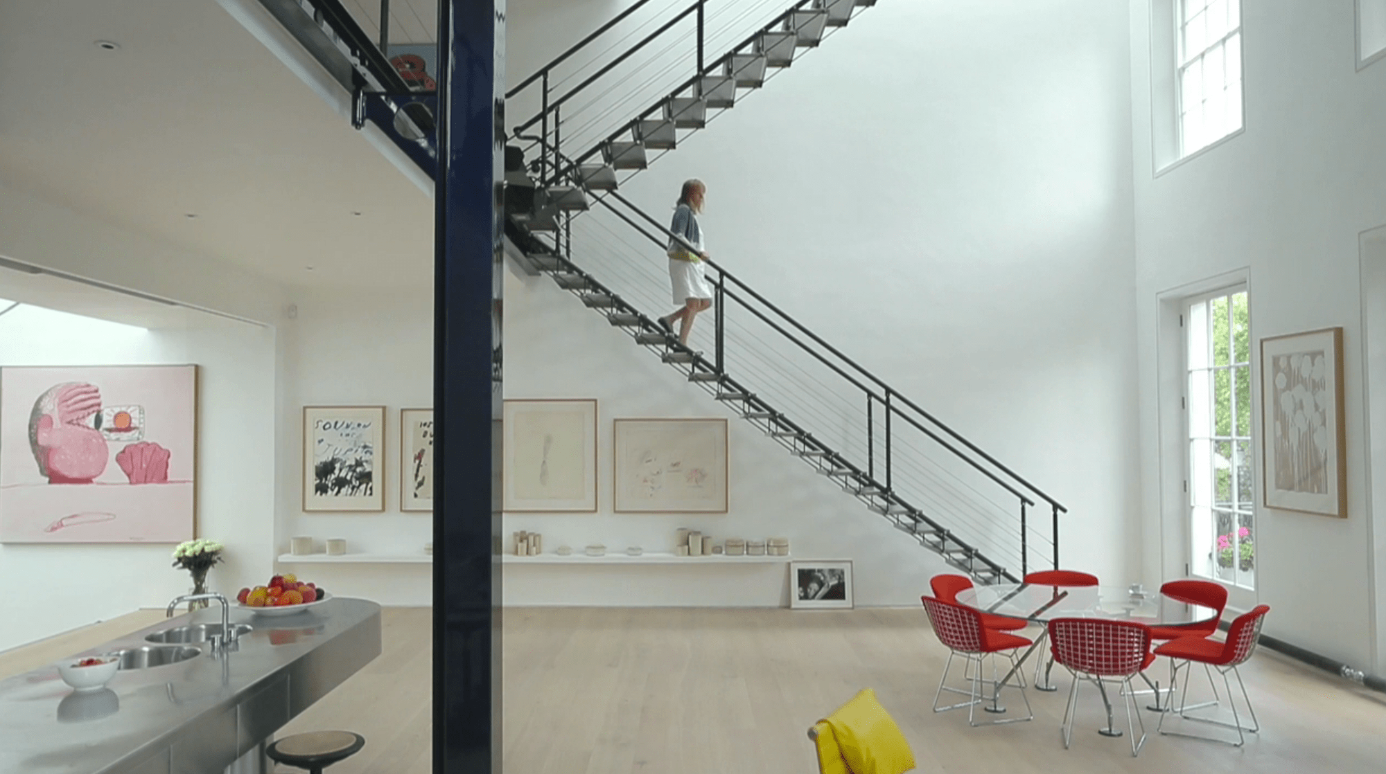 Brick And Stucco House Video: Ruth And Richard Rogers' London Home | Archdaily