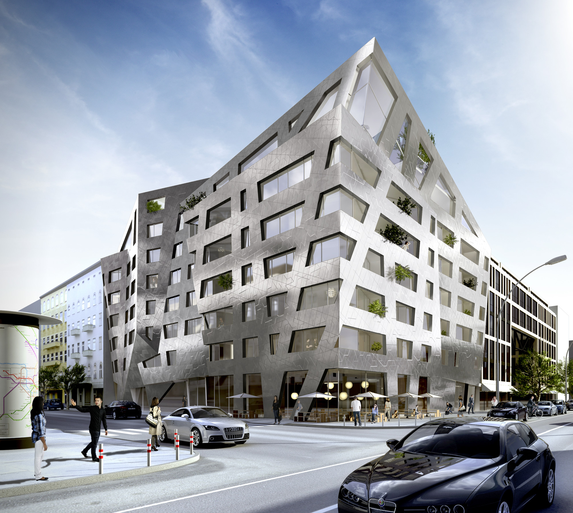 Architectuur Berlijn Daniel Libeskind Designs Apartment Building For Berlin