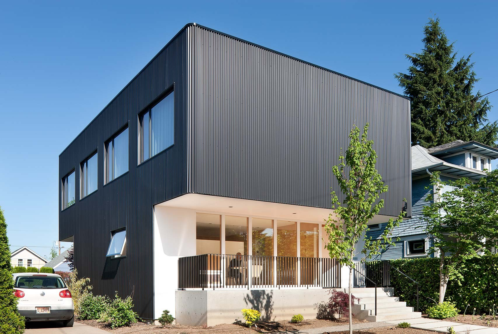Architectural Design Of Residential Building Oakley House Benjamin Waechter Architect Archdaily