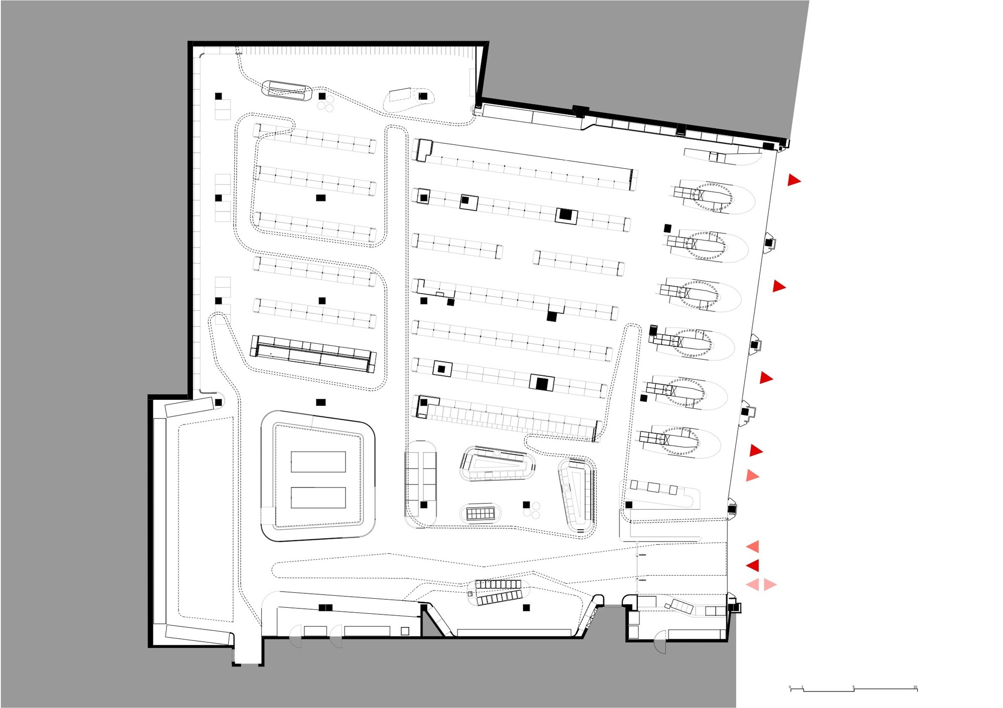 floor plan besides grocery store layout design on small grocery store download