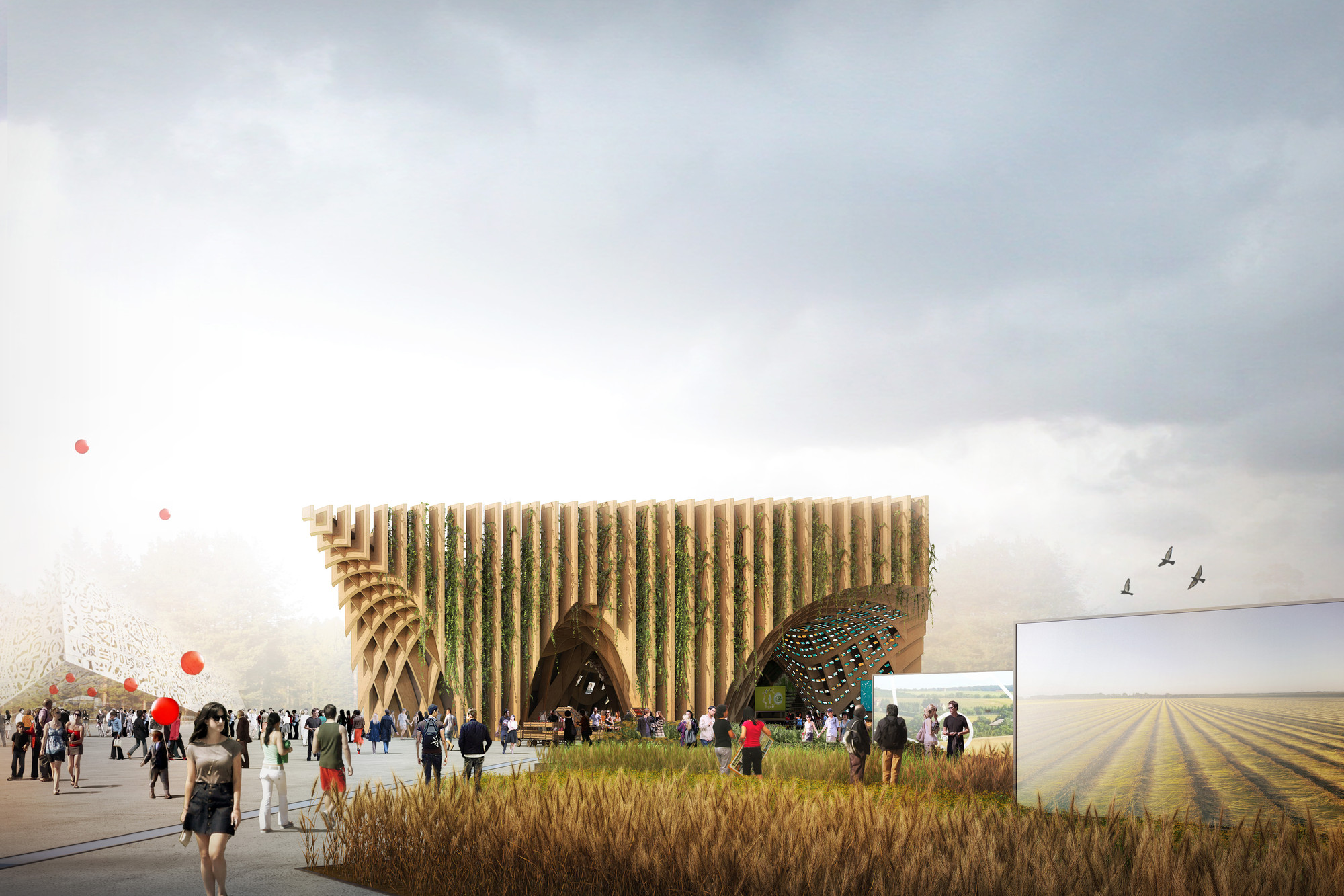 Design France Milan Expo 2015 X Tu Designs Latticed Fertile Market
