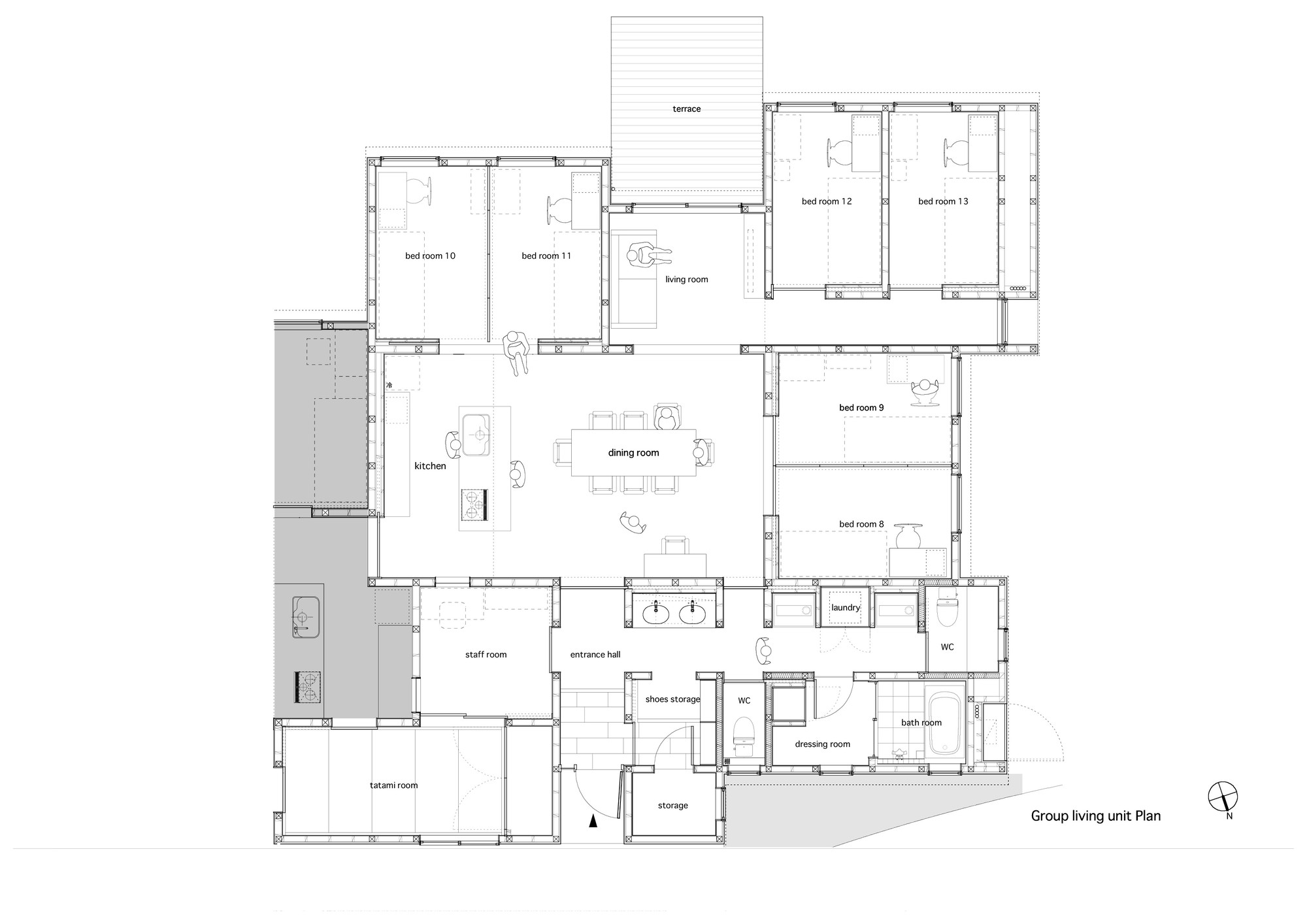 House Designs And Floor Plans Floor Plans For Group Homes Home Design And Style