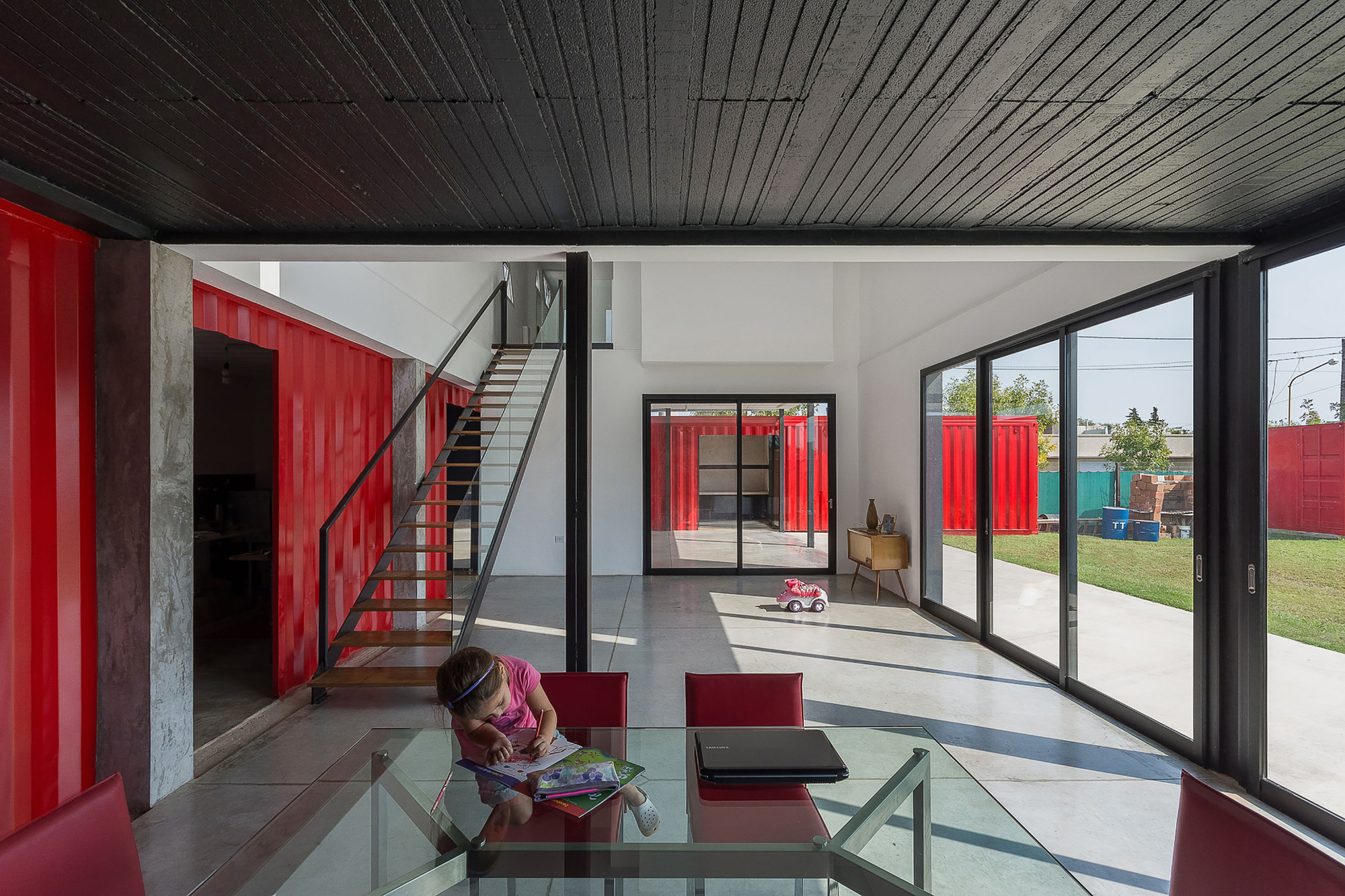 Container Haus Plan Container House José Schreiber Arquitecto Archdaily