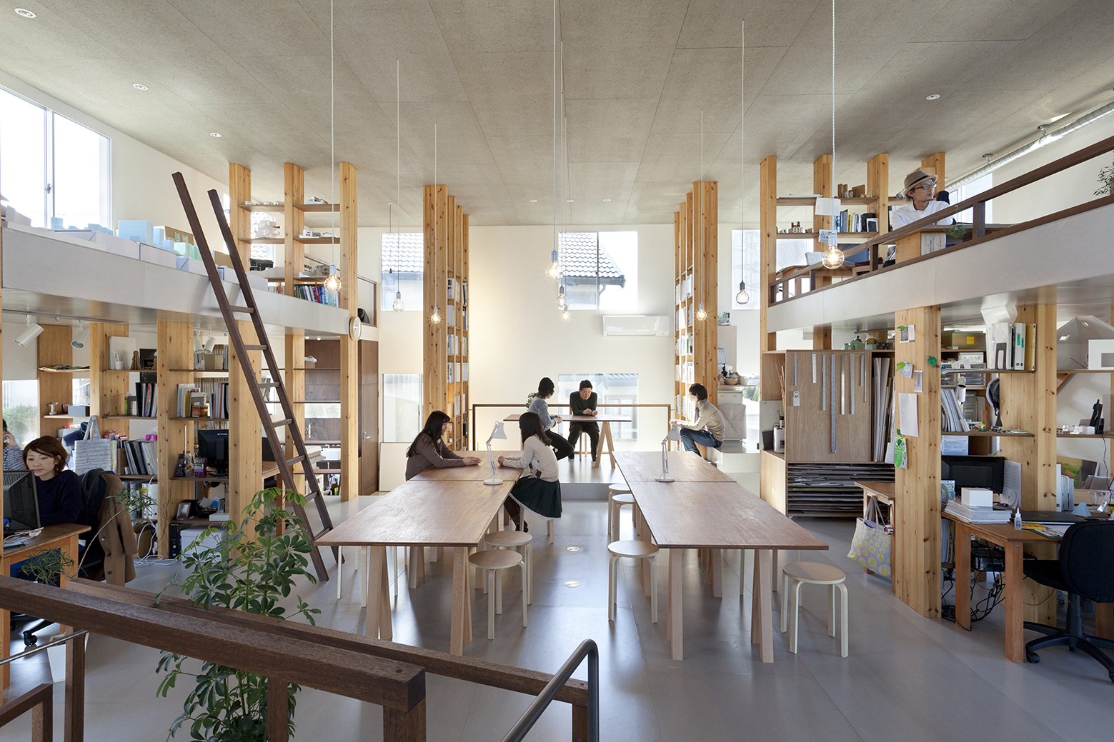 Interior Design For Studios Pillar Grove Mamiya Shinichi Design Studio Archdaily