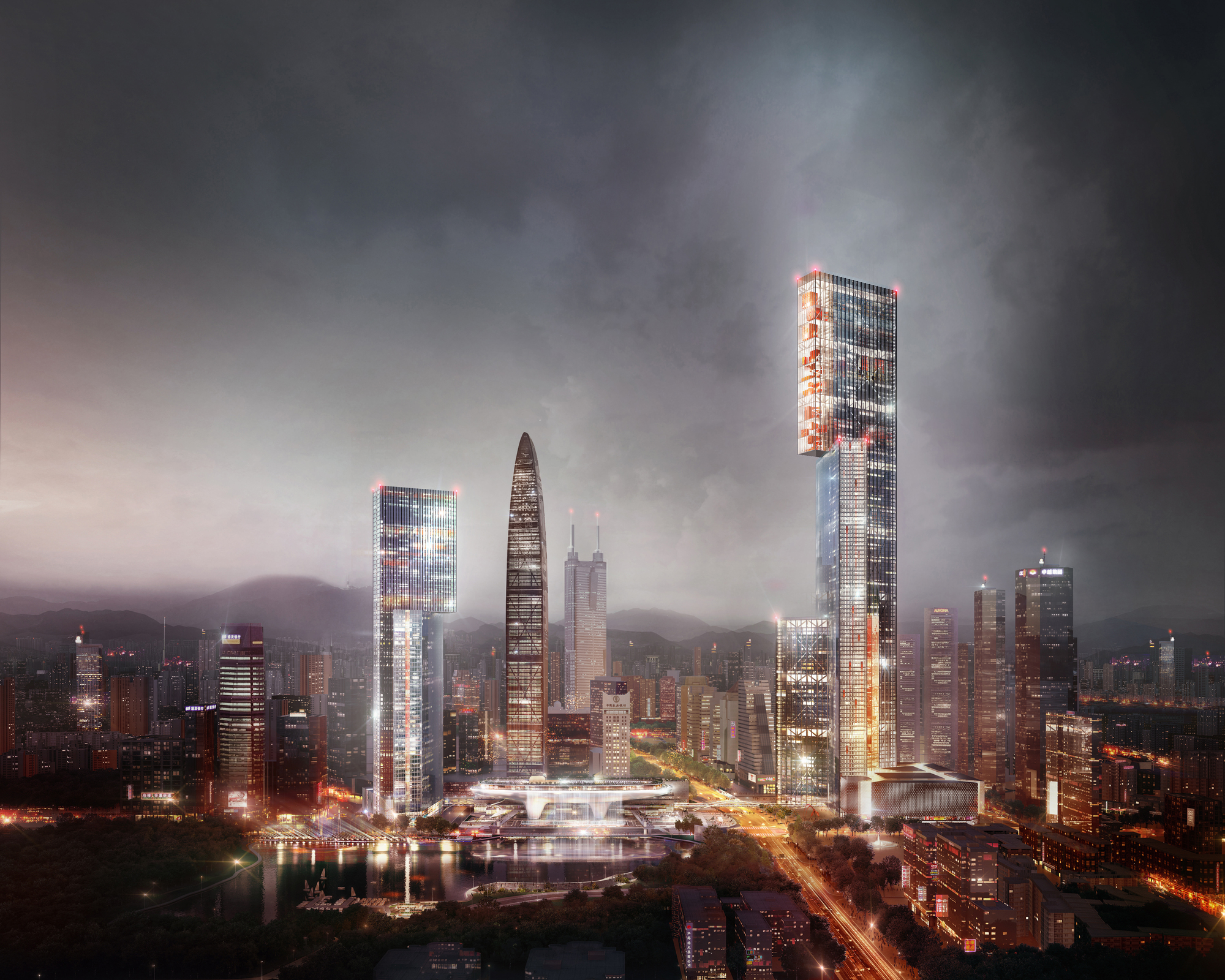 Seattle Washington In Fall City Night Wallpaper Gallery Of Plp Unveils Pearl River Delta S Tallest