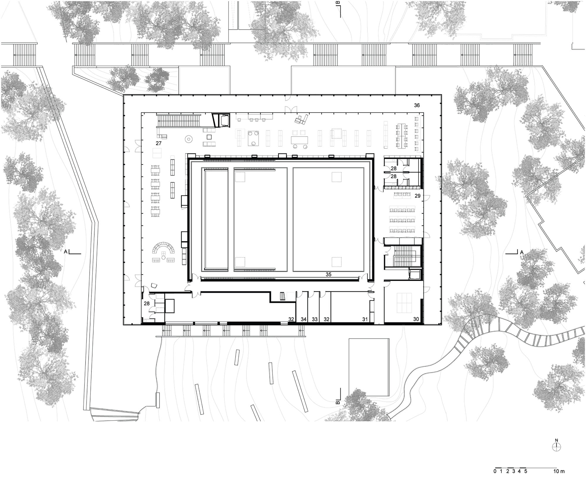 Gallery Of Cultural Center Alb39oru Devaux Devaux