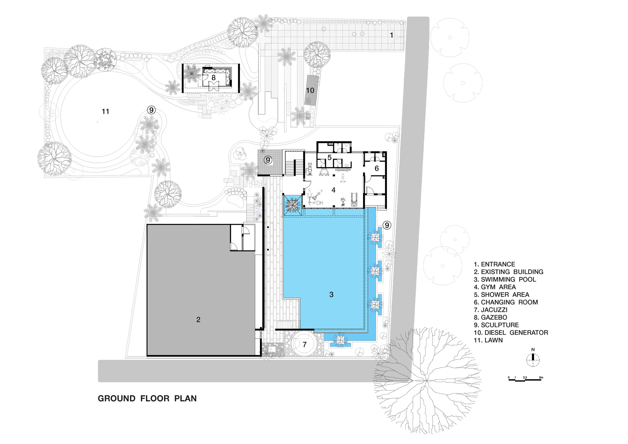Pool House Plans Gallery Of Pool House Abin Design Studio 21