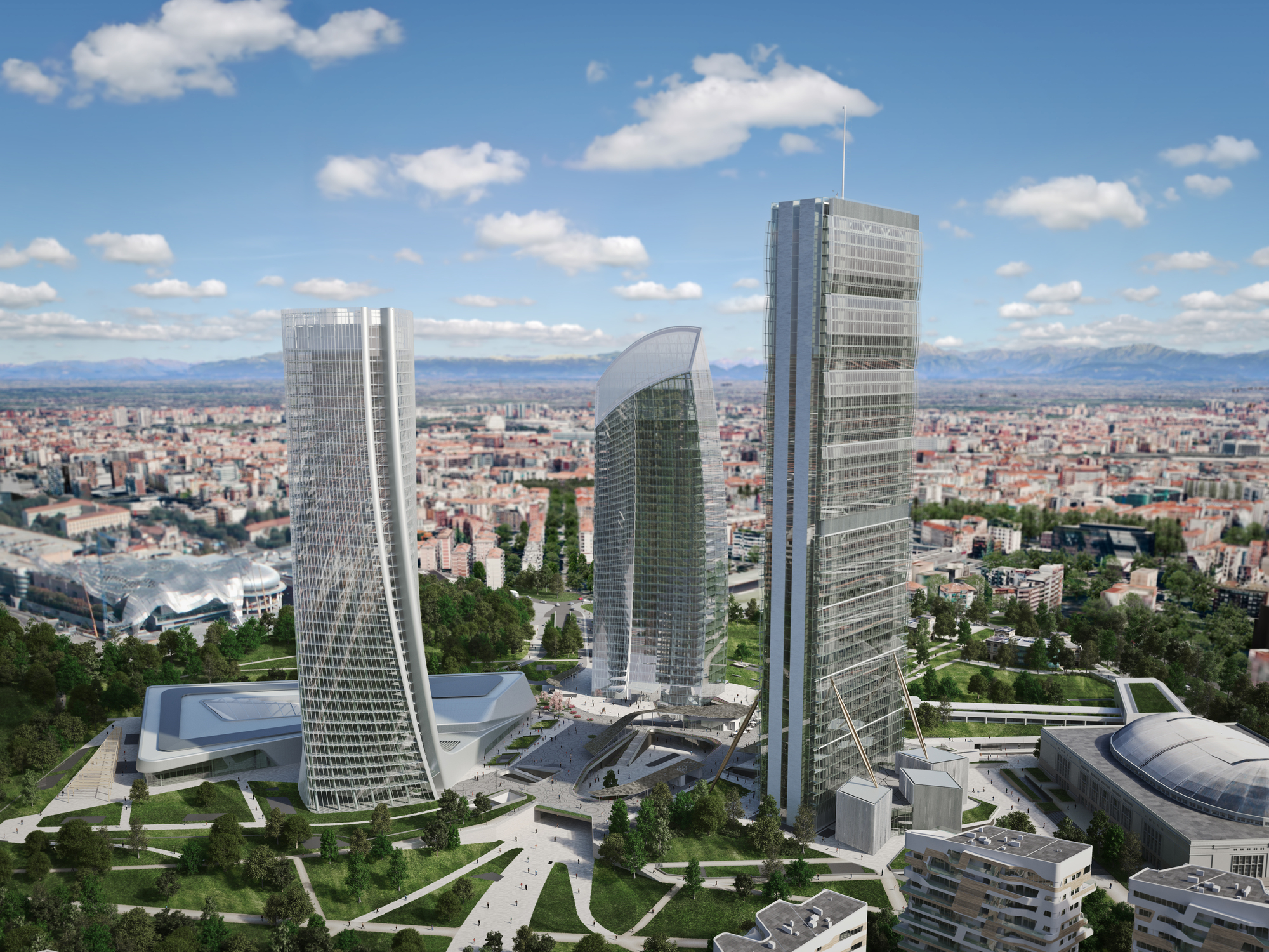 Mailand Haus Zaha Hadid Architects' Generali Tower Tops Out In Milan