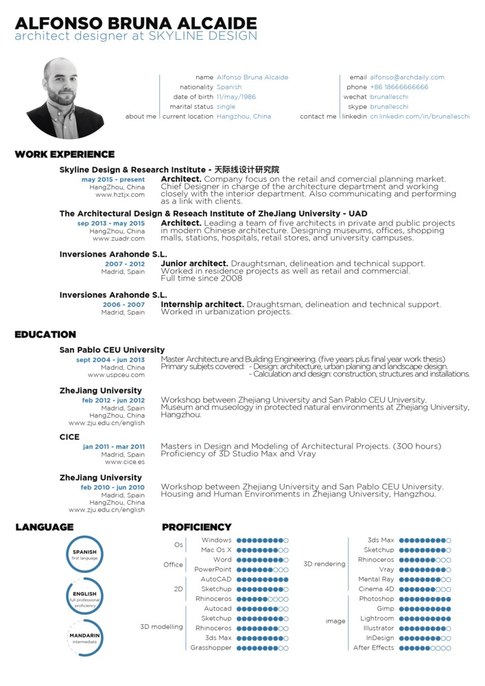 architectural firm resume template