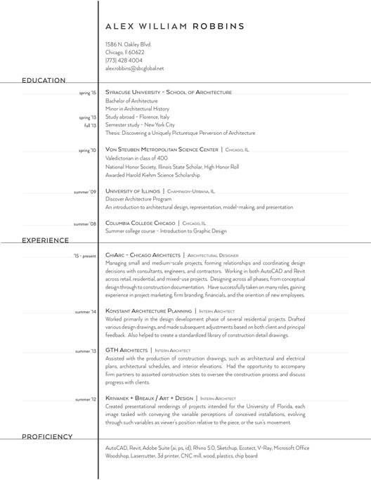 architecture resume samples - Ozilalmanoof