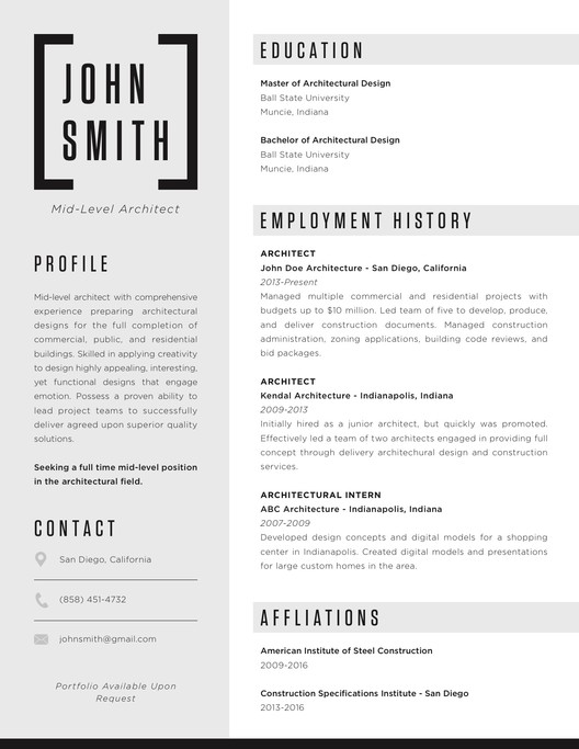 Example Of A Resume Layout Financial Analyst Resume Example The Top Architecture R233;sum233;cv Designs Archdaily